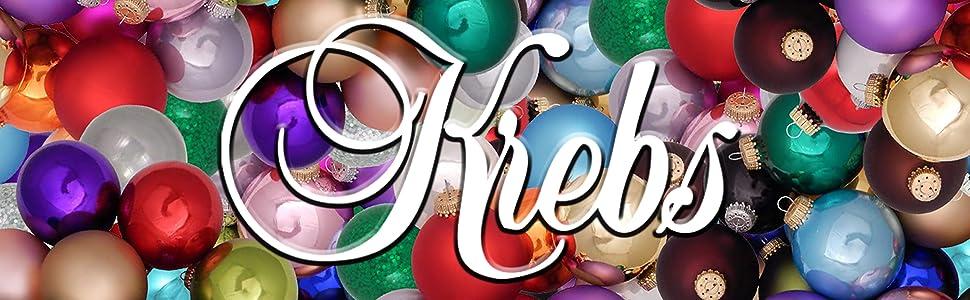 krebs christmas ornaments glass shatterproof plastic decor holiday holidays ball round finial drops