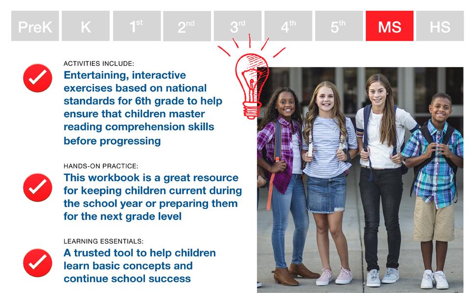 Image of middle school kids. Benefits of workbook.
