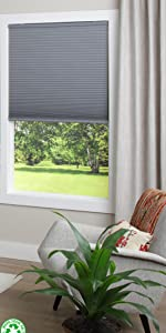 dez furnishings ecohome light filtering honeycomb shade recycled window covering 1.5 inch