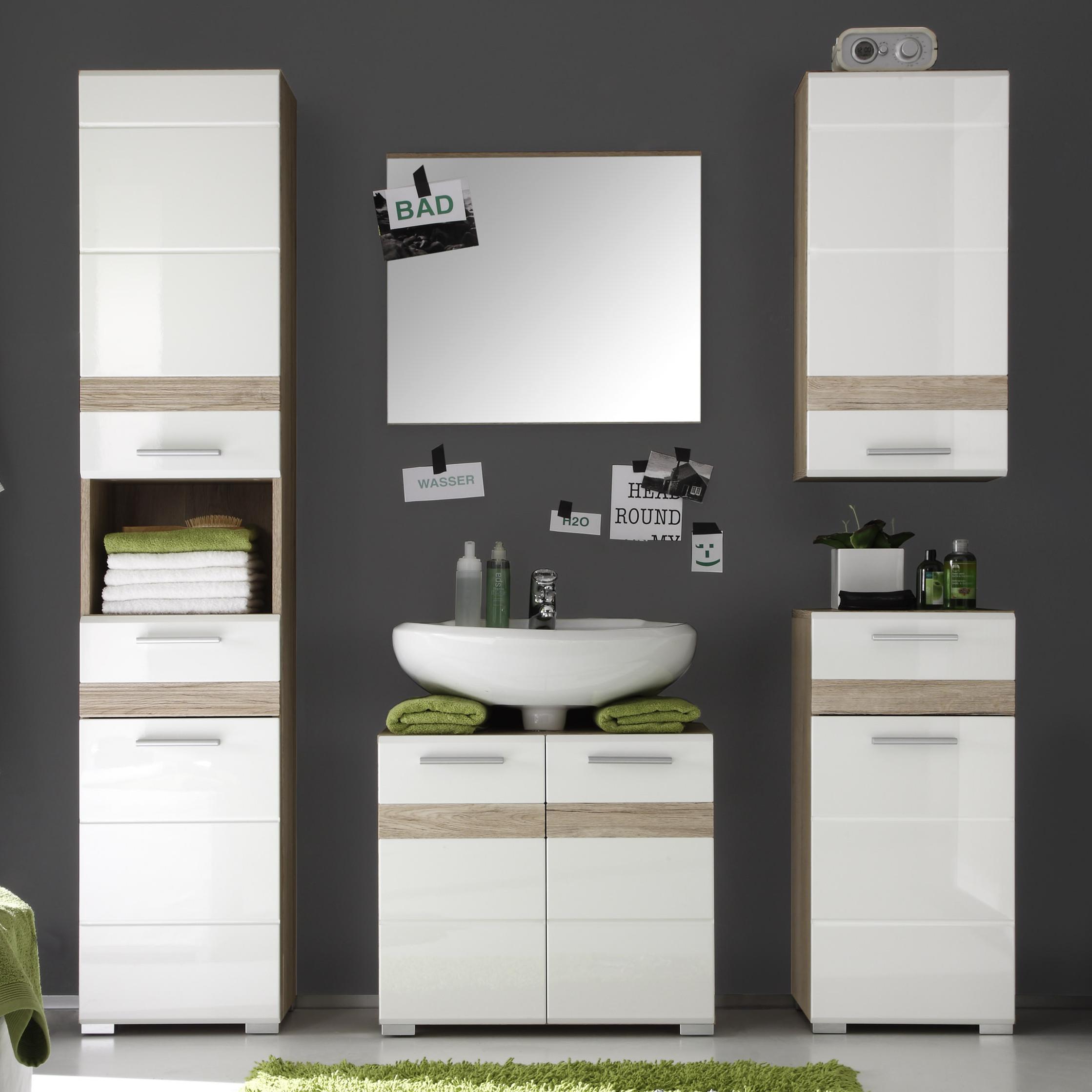 Trendteam Smart Living Badezimmer 5 Teilige Set Kombination Set One