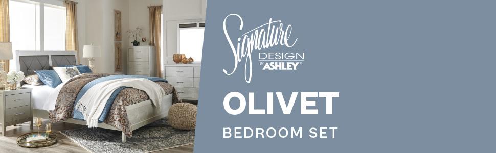 olivet collection bedroom set nightstands stands signature design by ashley furniture
