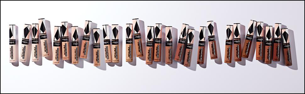 L'Oréal Paris More Than Concealer-productassortiment met alle nuances.