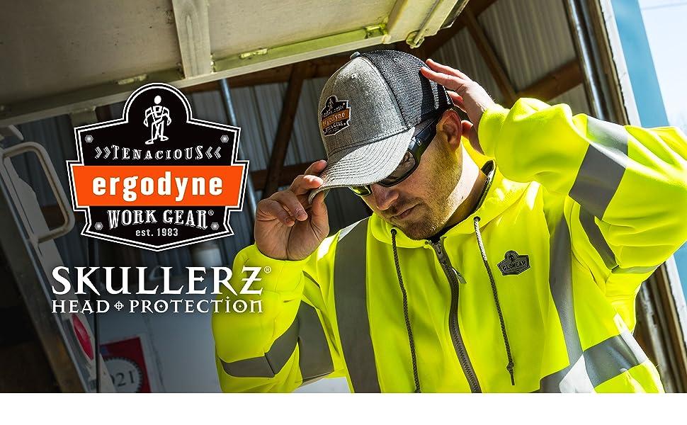 Skullerz Head Protection: 8945 universal bump cap insert / 8946 baseball hat for bump cap insert