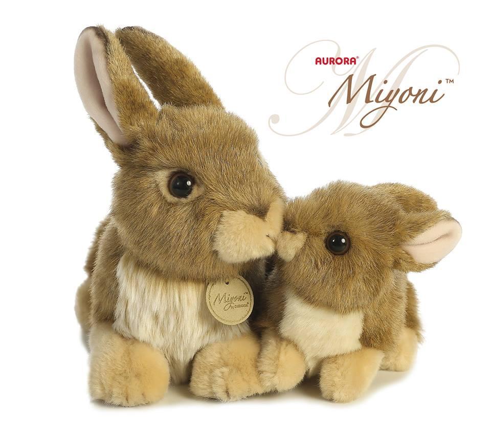 Amazon Com Aurora World Miyoni Bunny 8 Plush Brown Toys Games
