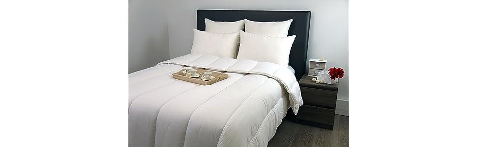 dodo niagara couette polyester blanc 240x220 cm cuisine maison. Black Bedroom Furniture Sets. Home Design Ideas