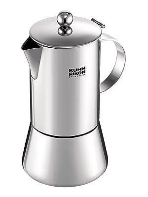 KUHN RIKON 38095 Cafetera Italiana Espresso Juliette Acero Inoxidable 0,5L 10 Tazas inducción: Amazon.es: Hogar
