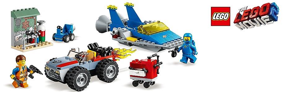 spaceship-emmet-benny-car-garage-lego-movie-2-70821-collectible-characters-figure-merchandise-movies