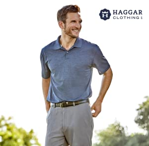 Haggar Mens 38MM Oil Tan Roller Belt