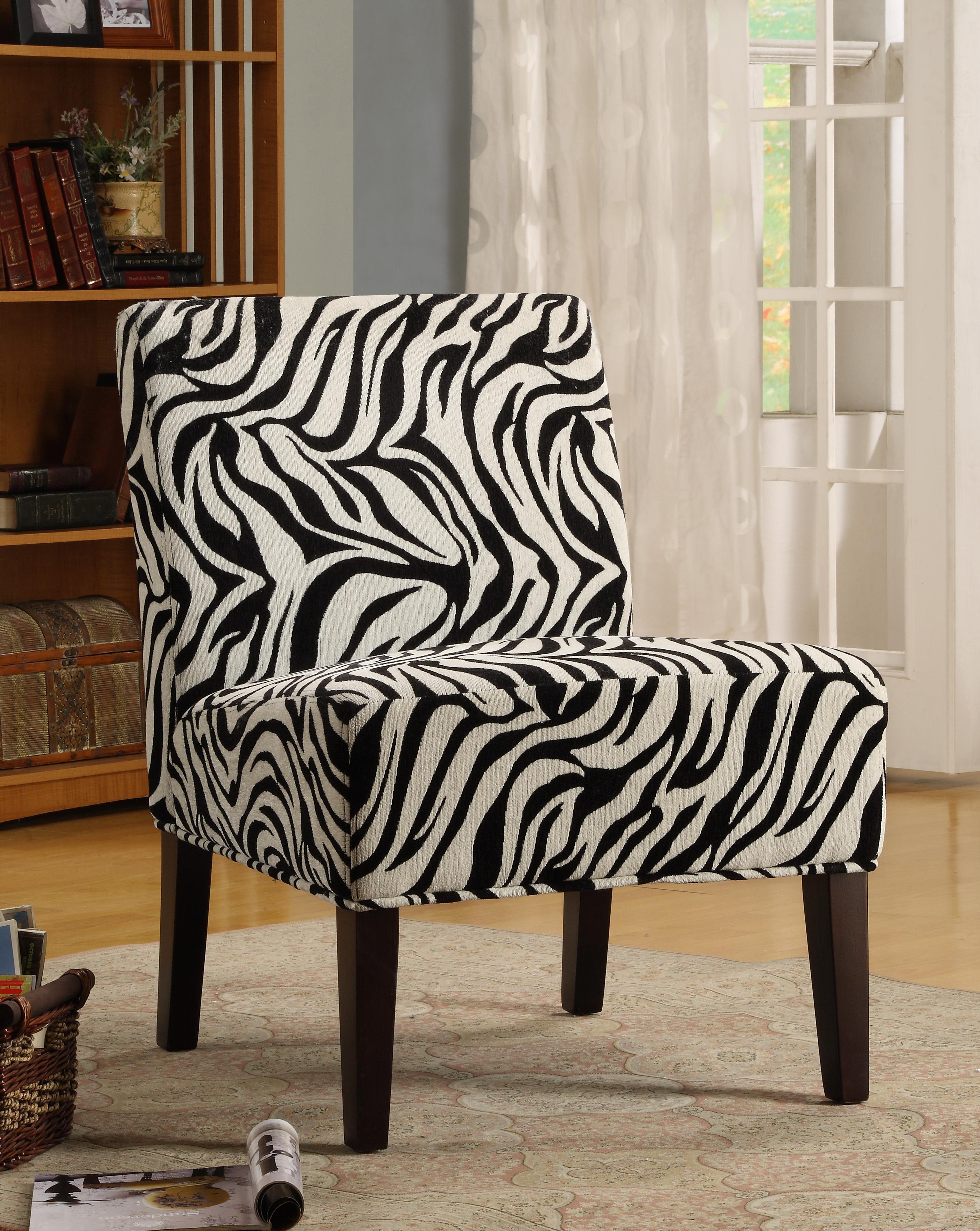 Amazon Homelegance Lifestyle Armless Lounge Chair Zebra