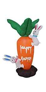 bzb goods bzbgoods easter inflatables inflatable blow up decoration yard gemmy airblown bunny blowup