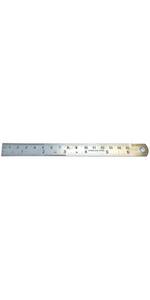 GROZ 6-inch Steel Rule | Stainless Steel | Imperial amp; Metric Graduations