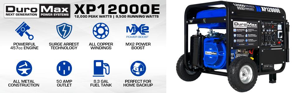 Duromax XP12000E Outdoor Home Backup Generator