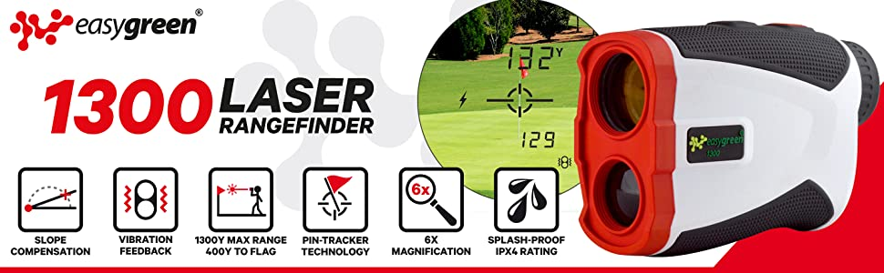 Easy Green 1 300 Yard Golf Rangefinder With Vibrating