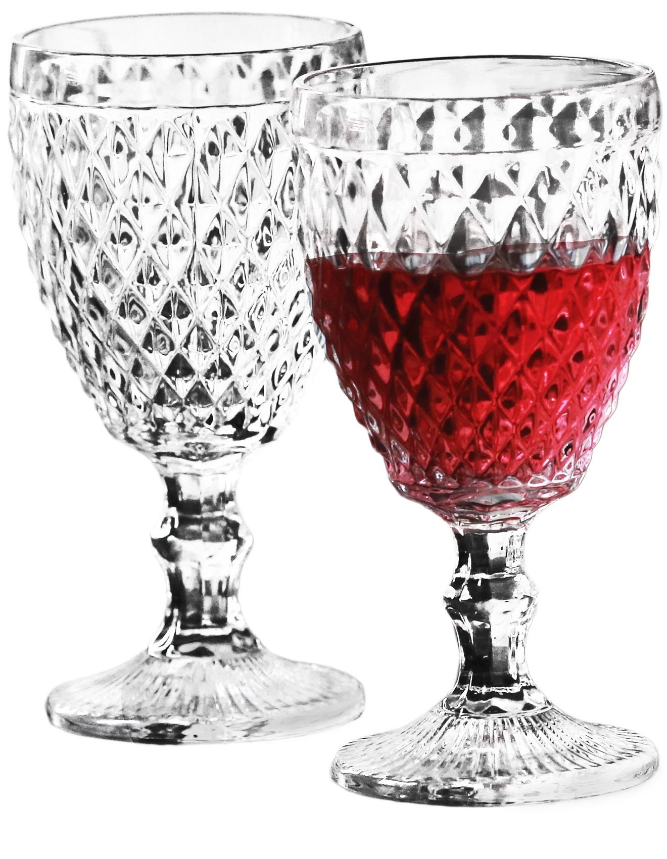 circleware fortune diamond cut wine glass. Black Bedroom Furniture Sets. Home Design Ideas