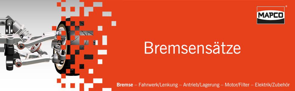 Mapco 47168 Bremsensatz Bremsscheiben mit Bremsbel/ägen und Radlagersatz Hinterachse