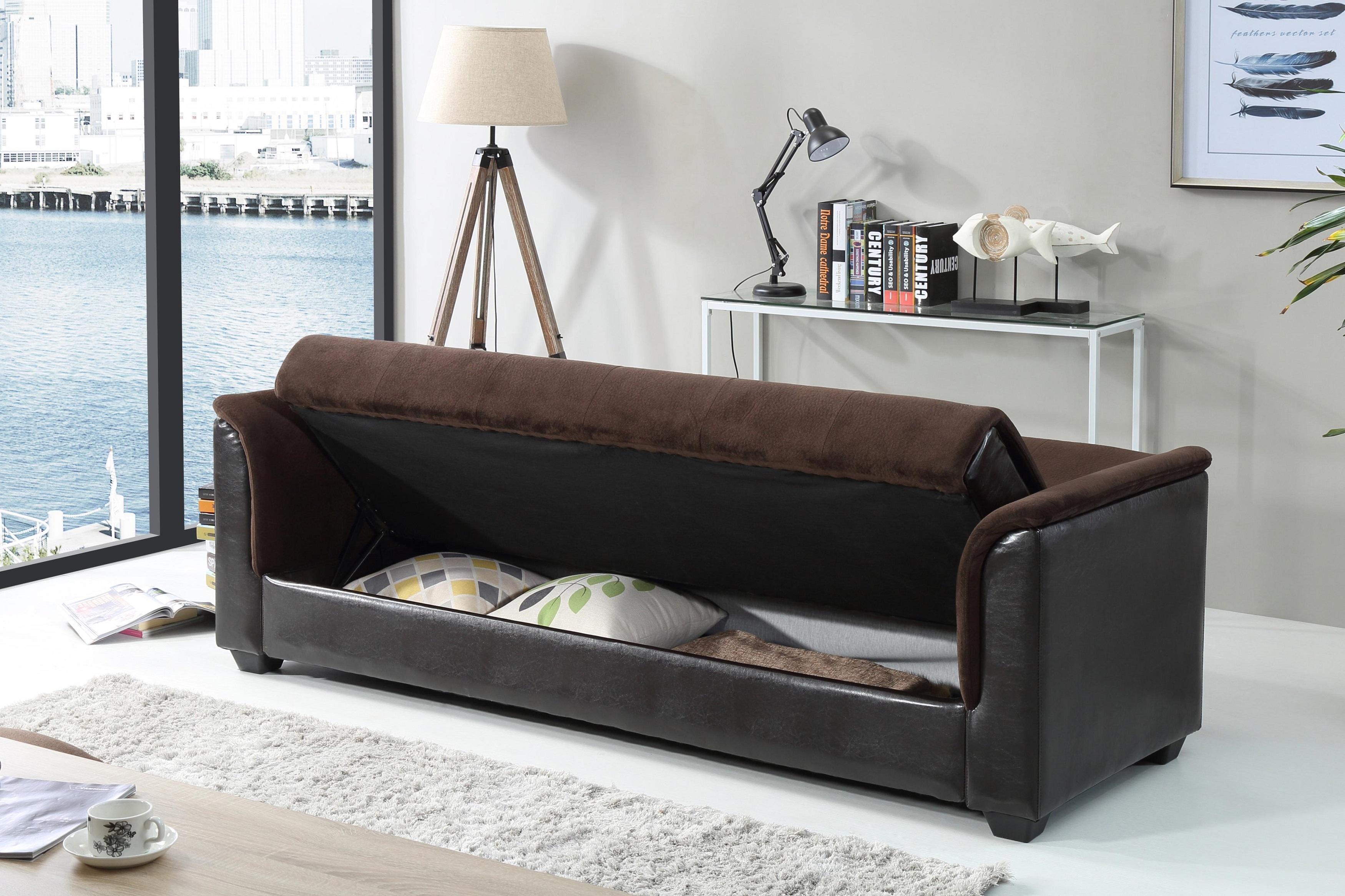 Amazon NHI Express Melanie Futon Sofa Bed with Storage