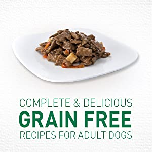 Complete and delicious, grain free recipes, Wholesome, Wet Dog Food, Natural Wet Dog Food, Dog Tray
