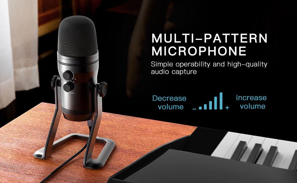 Multi pattern microphone