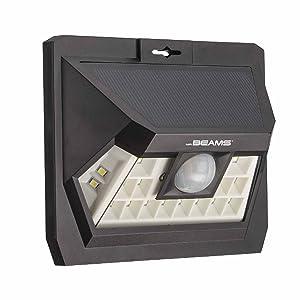 mr beams solar wedge max 18, wireless solar wall light, solar motion sensing spotlight, led light