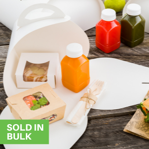 """""""These bakery pie boxes are equipped with a handle to comfortable transport baked goods.  """""""
