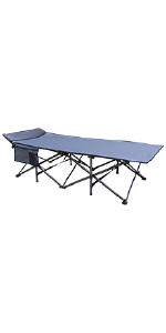 Osage River Deluxe Folding Camp Cot with Accessory Pocket