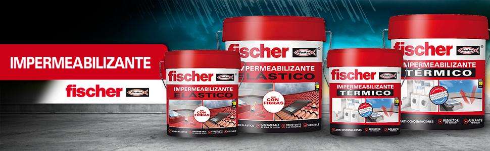 fischer - Impermeabilizante Gris/ (Cubo de 20 Kg - 20 l Kg/L), 547155: Amazon.es: Bricolaje y herramientas