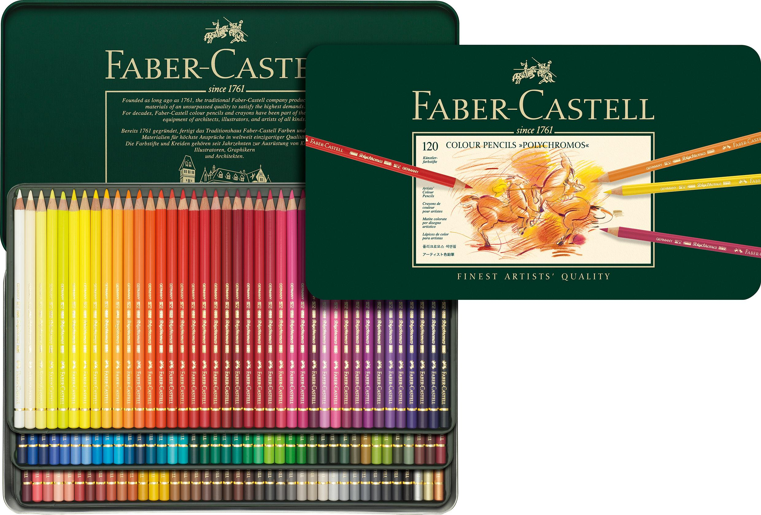 Faber-Castell Polychromos Colour Pencils Tin Of 24: Amazon.co.uk ...