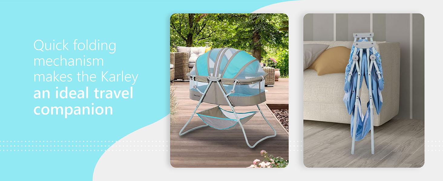 dream on me bassinet,breathable bassinet,bassinet with mesh, light bassinet, foldable bassinet