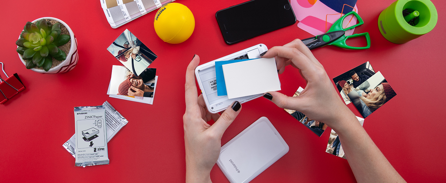 Polaroid ZIP Wireless Mobile Photo Mini Printer (White) Compatible w/ iOS & Android, NFC & Bluetooth Devices