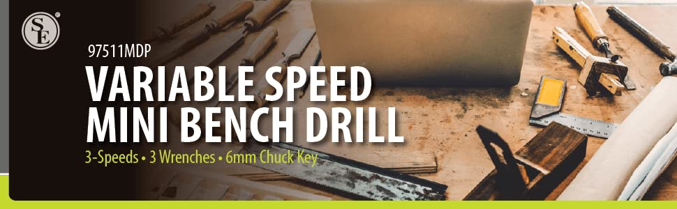Variable speed mini bench drill