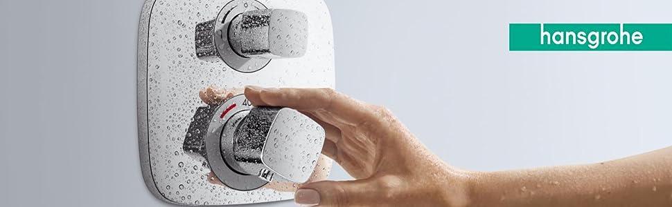 Hansgrohe 15758000 Ecostat S termostato empotrado, cromo, 2 ...