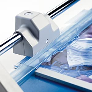 Dahle professional rolling trimmer, Self-Sharpening, Automatic Clamp, German Engineered Paper Cutter