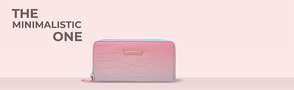 Caprese Nigella Women's Wallet (Turquoise & Peach)