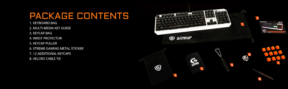 GIGABYTE Xtreme Gaming XK700 Mechanical, Red Switches, Height-Adjustable  Stands, RGB Keyboard GK-XK700