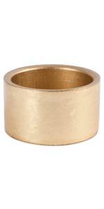 simple gold napkin ring