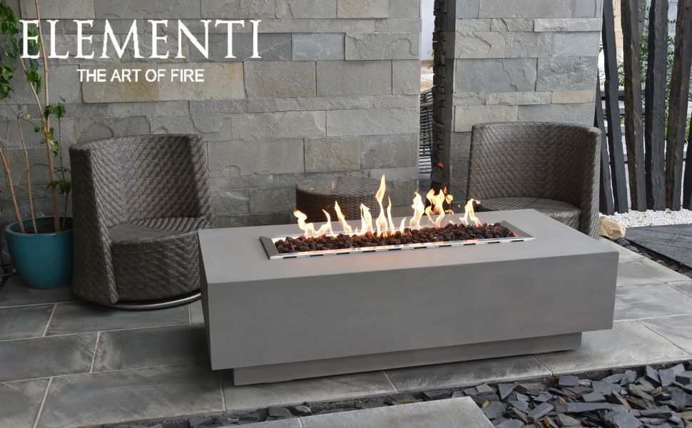 Amazon Com Elementi Granville Outdoor Table 60 Inches Fire Pit