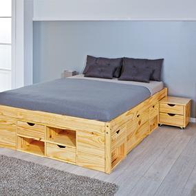 links 30400650 bett 180x200 cm doppelbett stauraumbett. Black Bedroom Furniture Sets. Home Design Ideas