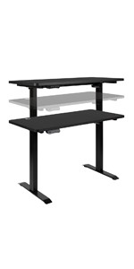 """Electric Height Adjustable Stand Up Desk - Table Top 48"""" Wide - 24"""" Deep"""