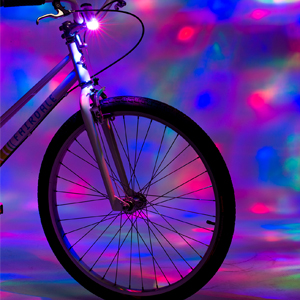 bike party fun lights colorful