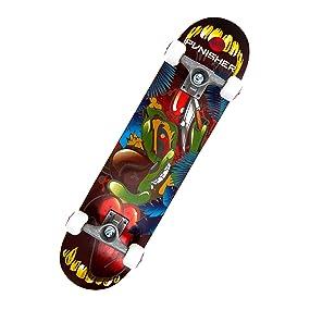 ranger, rangers, monsters, monster skateboard, skateboards for boys, skateboards for girls, punisher