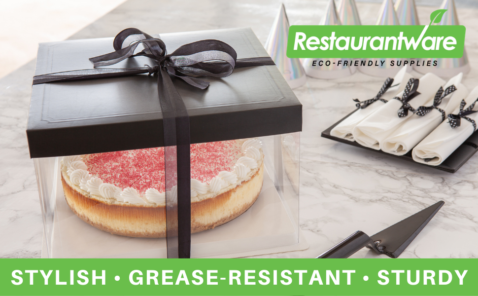 Each plastic cake container includes a textured base that prevents cakes from sliding.