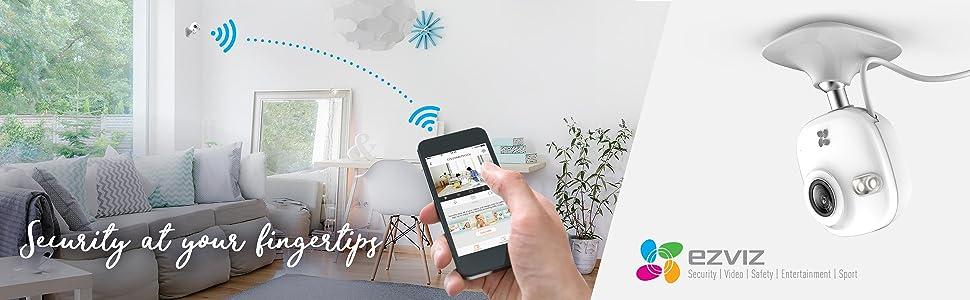 wifi camera,720p,HD,1MP,1 Megapixel,microfono,visione notturna,EZVIZ,Hikvision,rilevazione movimento