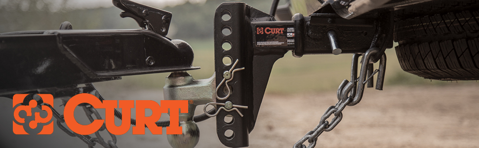 CURT Class 3 Hitch with Adjustable Ball Mount