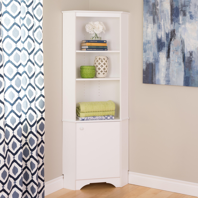 """Narrow Kitchen Cabinets: Amazon.com: Prepac Elite 16"""" Narrow Cabinet In White"""