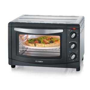 SEVERIN TO 2061 Horno Tostador con Convección incluye Piedra para pizza, 1.500 W, 20 L, color plateado y negro: Amazon.es: Hogar