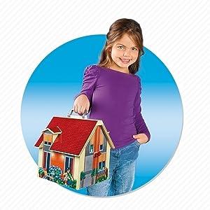 Playmobil, Doll House, Modern, Carry Along, Take Along, House