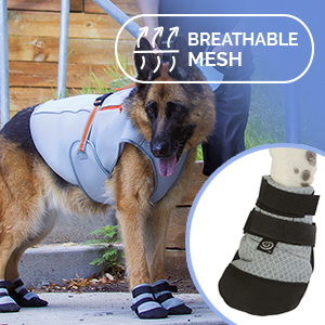 Ultra Paws Cool Silver Dog Shoes or Dog Boots