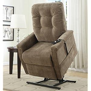 montreal coffee fabric lift chair