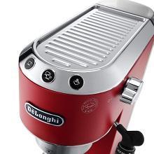 Delonghi Dedica EC685.R - Cafetera de bomba, acero inoxidable, capuccinatore, depósito 1,3 litros, sistema anti-goteo, café molido o monodosis, rojo