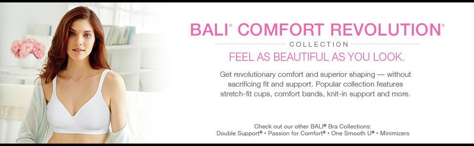544cbdb9b2684 Bali Women s Comfort Revolution Wire Free Bra  Amazon.ca  Health ...